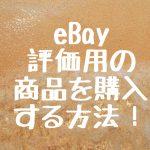 eBay 評価用の商品を購入する方法!
