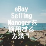 eBay Selling Manager を適用する方法!