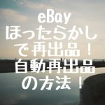 eBay ほったらかしで再出品!自動再出品の方法!