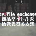 ebay file exchange で商品タイトルを一括変更する方法!