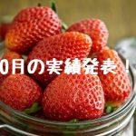10月の実績発表!